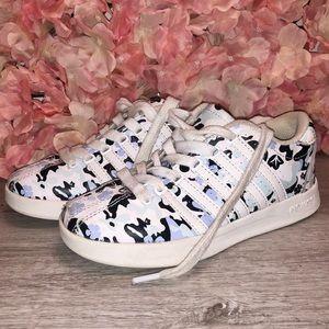 girls blue camo & flower k-swiss sneakers size 13